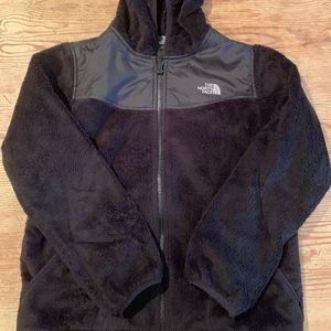 NORTHFACE BLACK hooded Youth Jacket - XL (18)